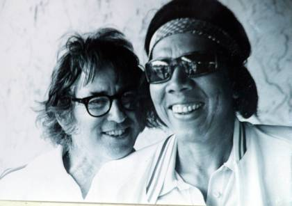 Fort Lauderdale, Florida  Around 1974.  Wimbledon Singles, Doubles and Mixed Doubles Champion Bobby Riggs with 1957 and 1958 WImbledon Champion Althea Gibson at the Tennis Club of Fort Lauderdale.  Althea was the first Afro-American  woman to play at Wimbledon, win Wimbledon and to play on the Ladies Professional Golf Association Tour.  Exclusive photo by Art Seitz
