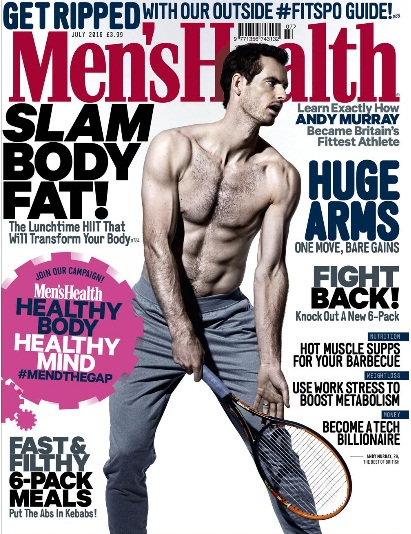 PHOTOS: Andy Murray Flashes His Toned Body for Men's Health Magazine Cover