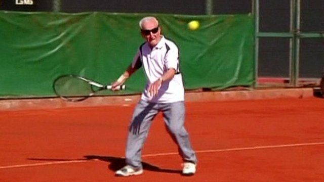 VIDEO: The 100-Year-Old Tennis Player