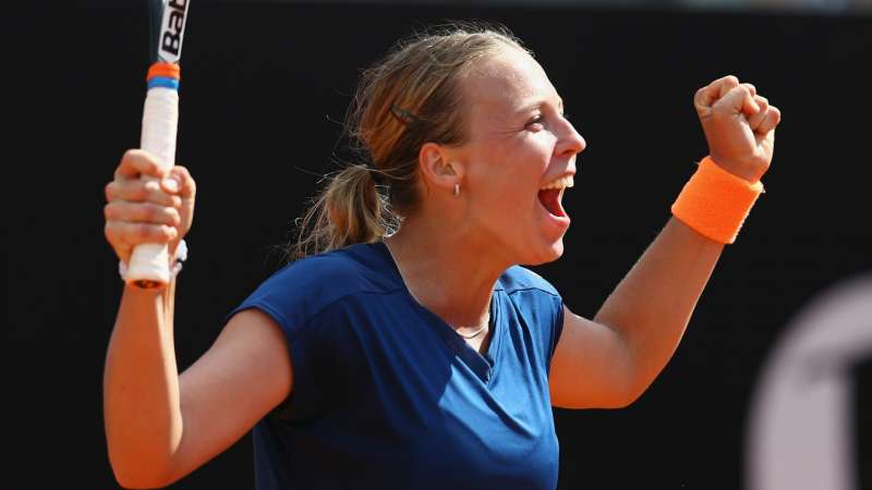 "Anett Kontaveit: ""It's amazing to play on the big courts"""