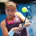 Sara Errani in azione in Australia