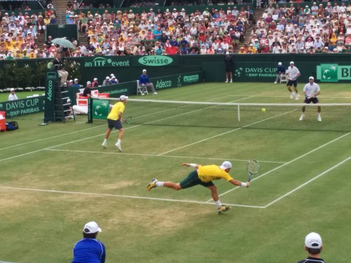 Great returns by Hewitt were not enough to overcome the Bryan brothers