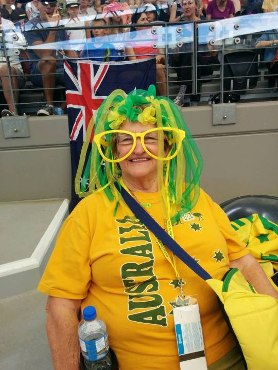 Aussie fans are always colourful, regardless of their age