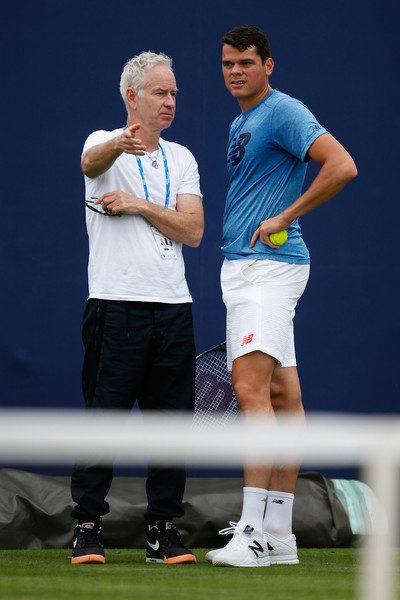 Milos Raonic and John McEnroe (Zimbio)