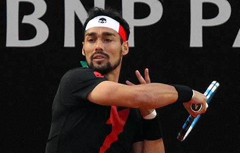 Fabio Fognini upsets Dominic Thiem to delight Rome fans
