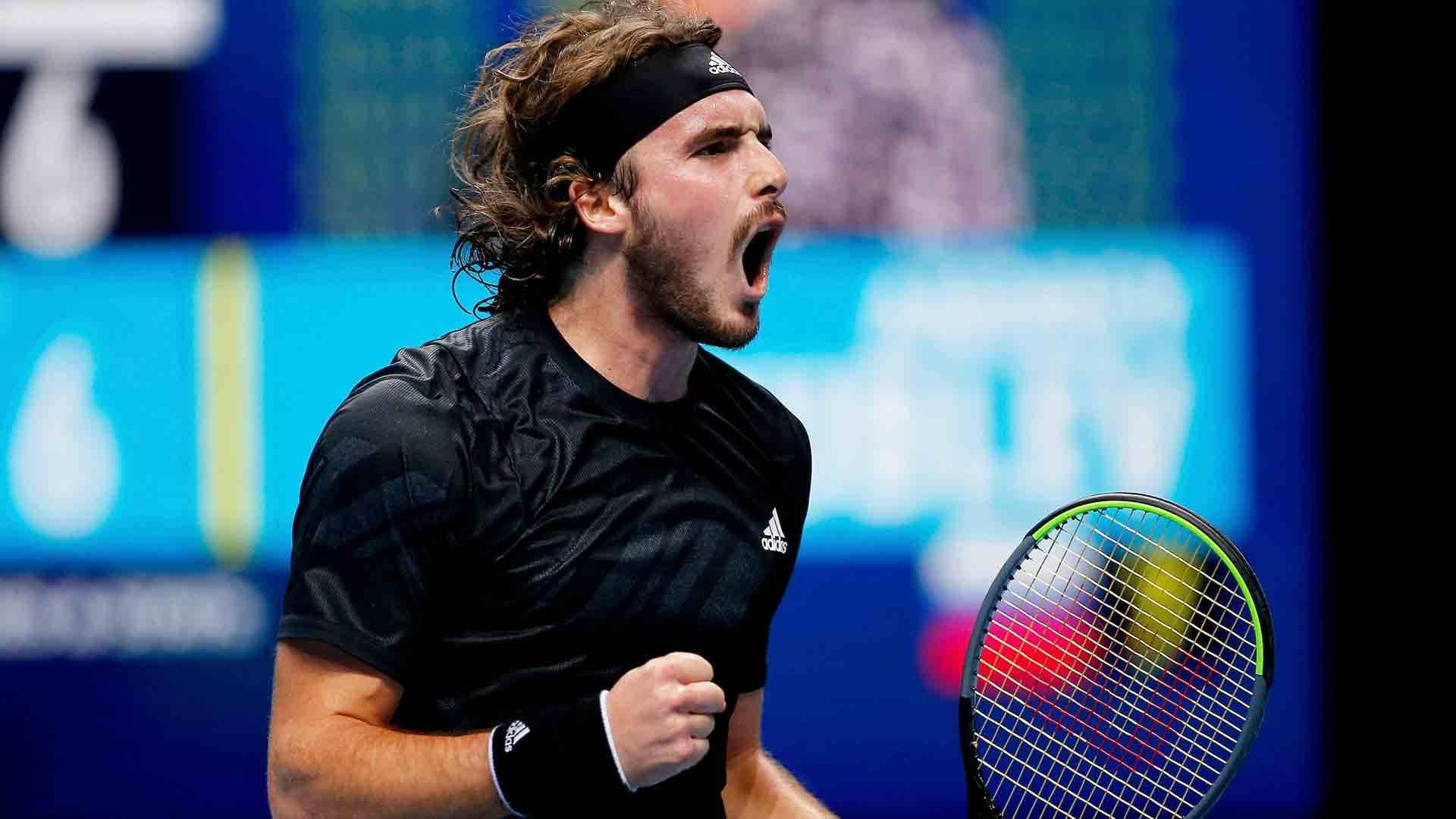 Rafael Nadal beats Stefanos Tsitsipas to claim record ...   Nadal Tsitsipas