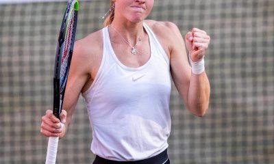 Liudmila Samsonova in Berlin in 2021 (Credit: @TennisChanneli on Twitter)